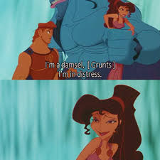 megara is a damsel in distress in disney s hercules picture quote