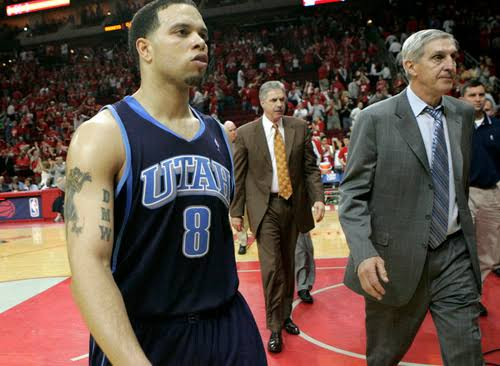"""Image result for Jerry Sloan and Deron Williams Each Comment on Sloan's Decision To Step Down in Salt Lake City"""""""