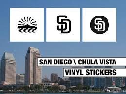 San Diego Chula Vista Local City Logo Vinyl Decal Stickers Etsy