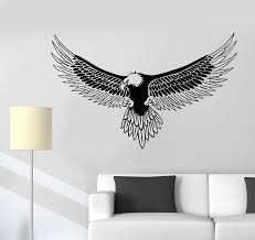 Vinyl Wall Decal American Bald Eagle Bird Feathers Patriot Symbol Stic Wallstickers4you