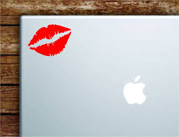 Red Lips Laptop Wall Decal Sticker Vinyl Art Quote Macbook Apple Decor Boop Decals