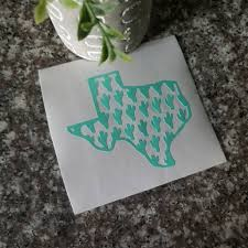 Texas Cactus Decal Any State Map Sticker Cactus Decal Car Etsy