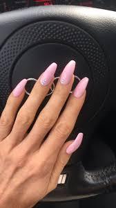 Rozowe Paznokcie Z Cyrkoniami With Images Manicure Nails