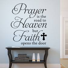 Christian Wall Decal Prayer Road To Heaven Religious