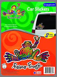 Hope Peace Frogs Car Sticker Enjoy It