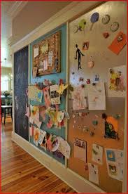 Kids Art Wall Black Board Pinboard And Magnetic Playroom Home Diy Home Decor