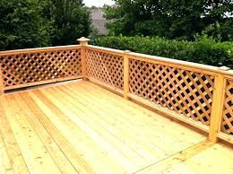 Privacy Deck Railing Lattice Decks Vinyl Panels For Adding To Rail Home Elements And Style Skirting Black Pre Made Depot Styles Crismatec Com