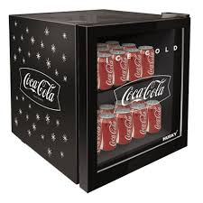 46l coca cola counter top glass door