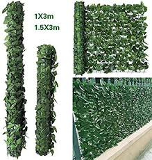 Inmozata Artificial Screening Ivy Leaf Hedge Panels Roll Garden Leaf Fence Balcony Wall Privacy Screen 1m X 3m Garden Privacy Protective Screens
