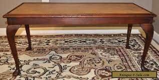 attractive vintage leather top mahogany
