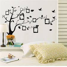 Diy Black White Tree Photo Wall Stickers Gallery Wallrus Free Worldwide Shipping
