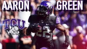 Aaron Green || Late Round Sleeper || TCU Highlights - YouTube