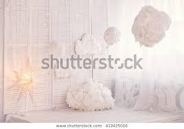Children Bedroom Kids Room Light White Interiors Stock Image 412425016