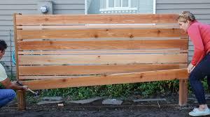 How To Build A Diy Horizontal Fence