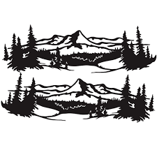 Wholesale 2 Pcs 50 150cm Universal Tree Sticker Mountain Scene Northern Great Car Sticker Vinyl Truck Rv Toy Transporter Accessories Vehicles Cars Black From China