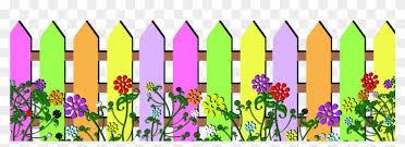Color Fence Clip Art Lavender Fence And Flowers Clip Art Free Transparent Png Clipart Images Download