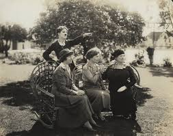 Charles Chaplin. Front row, left to right: Polly Thompson, Helen ...