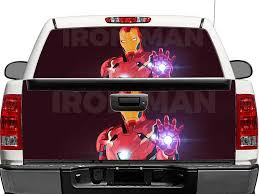 Product Ironman Rear Window Or Tailgate Decal Sticker Pick Up Truck Suv Car