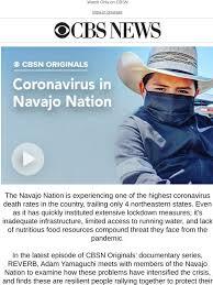 CBS MoneyWatch: Now Available: Coronavirus in Navajo Nation   CBSN  Originals   Milled