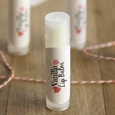 homemade vanilla lip balm