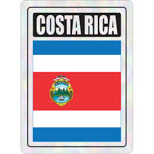 Costa Rica Prismatic Hologram Car Decal Sticker Flags N Gadgets