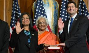 Did Rep. Jayapal change her message on Trump acceptance?
