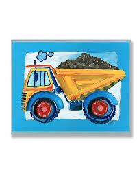 Stupell Industries The Kids Room Yellow Dump Truck With Blue Border Wall Plaque Art 12 5 X 18 5 Reviews All Wall Decor Home Decor Macy S