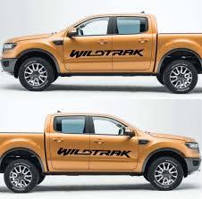 Product 2x Ford Ranger Wildtrak Vinyl Doors Sticker Decals Graphics 2016 2018