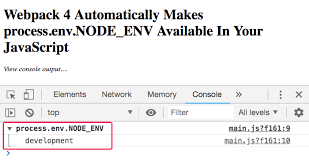 process env node env