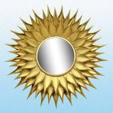 gold sun flower mirror frame