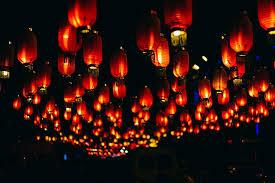 hd wallpaper paper lanterns at night