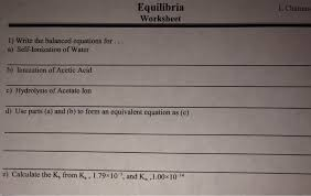 write the equation for self ionization