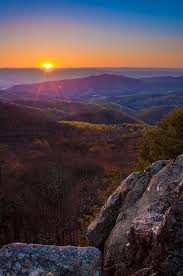 Bearfence Sunset Appalachian Trail Appalachian Mountains Shenandoah National Park