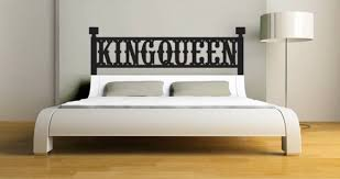 King Queen Headboard Wall Decal Dezign With A Z