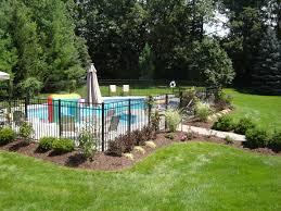 Pin By Erika Alanis On Pools Inground Pool Landscaping Landscaping Around Pool Backyard Pool Landscaping