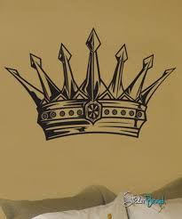 Royal King S Crown Vinyl Wall Decal Sticker 302 Stickerbrand