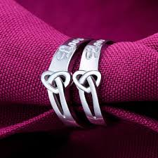 silver promise rings