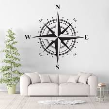 Compass Marine Navigation North South East West Vinyl Wall Art Decal
