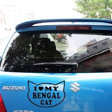 I Love My Bengal Cat Sticker For Car Truck Rear Windshield Breed Kitten Heart Cute Tiger Gift Sticker For Car Cat Sticker For Carsfor Car Aliexpress