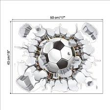Shop Soccer Ball Football Broken 3d Decorative Peel Vinyl Wall Stickers Overstock 17747033
