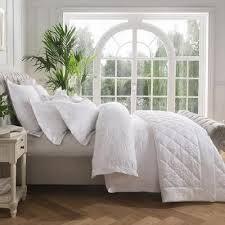 dorma fern white duvet cover white from