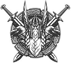 Amazon Com Strong Black And White Viking Warrior Sword Icon Emblem Vinyl Decal Bumper Sticker 4 Wide Kitchen Dining