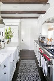 white diamond pattern kitchen runner