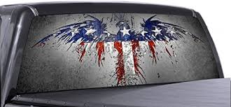 Amazon Com Vuscapes American Patriotic 2 Rear Window Truck Graphic Decal Suv View Thru Vinyl Automotive