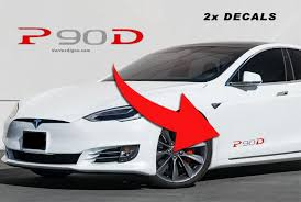 New 2019 Tesla P90d Decal Sticker For Model S X Lower Body Etsy