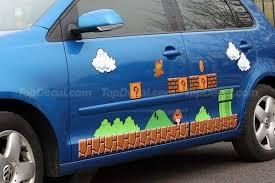 Gaming Car Decals Super Mario Vinyl Car