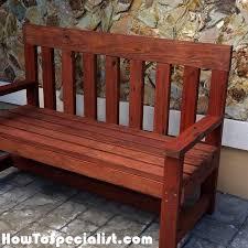 2x4 garden bench diy project