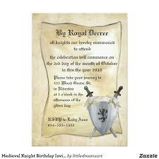 Invitacion Medieval Del Cumpleanos Del Caballero Zazzle Es