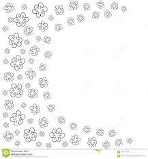 Marco Floral Abstracto En Un Fondo Blanco Para Las Impresiones