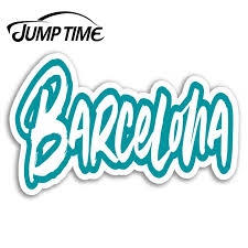 Jump Time For Barcelona Vinyl Stickers Spain Travel Sticker Laptop Luggage Auto Bumper Motor Decal Waterproof Car Accessories Car Stickers Aliexpress